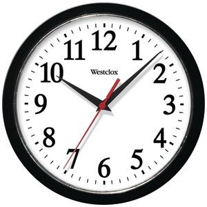 WESTCLOX 10 inch. Basic Wall Clock (Black) 461861