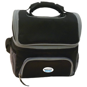 BRENTWOOD KOOL ZONE Cooler Bag with Extra Storage (Black) CB-12BK