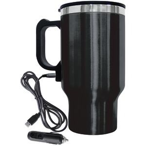 BRENTWOOD 16-Ounce Electric Coffee Mug with Wire Car Plug CMB-16B