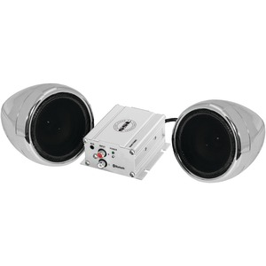 SOUNDSTORM Motorcycle 600-Watt Amplified Sound System with 3 inch. Chrome Full-Range Speakers & Bluetooth(R) SMC72BC