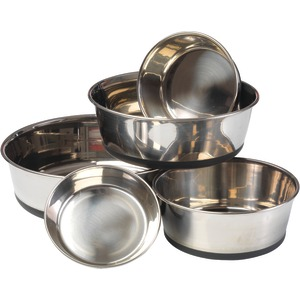 HOUSE OF PAWS Stainless Steel Dog Bowl with Silicon Base (XL) HP609XL