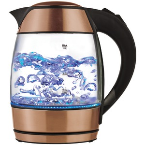 BRENTWOOD 1.8-Liter Electric Glass Kettle with Tea Infuser KT-1960RG