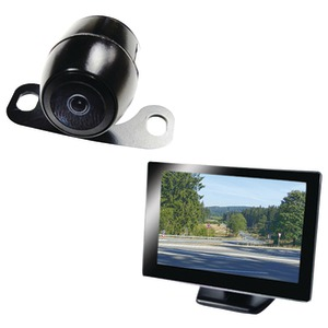 BOYO 5 inch. Rearview Monitor with License-Plate Camera VTC175M