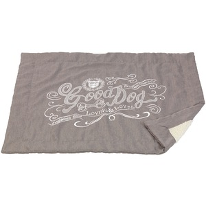 HOUSE OF PAWS Good Dog Linen Blanket (Gray) HP795G