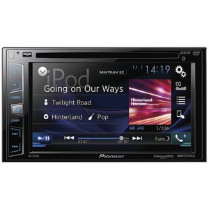 PIONEER 6.2 inch. Double-DIN In-Dash DVD Receiver with Bluetooth(R) & SiriusXM(R) Ready AVH-X390BS