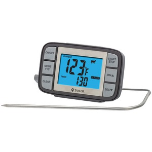 TAYLOR Customizable Probe Thermometer & Timer 808GW