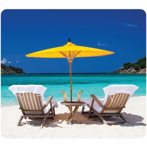 FELLOWES Recycled Mouse Pad (Caribbean Beach) 5916301