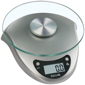 TAYLOR Silver Digital Kitchen Scale 3831S