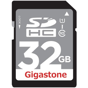 GIGASTONE UHS-1 CL10 SDHC Card with up to 45Mbps Transfer Rates 32GB GS-SDHCU132G-R