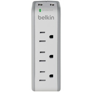 BELKIN 3-Outlet Mini Surge Protector with 2 USB Ports BZ103050-TVL