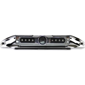BOYO Bar-Type License Plate Camera with IR Night Vision & Parking Guide Lines (Chrome) VTL400CIR