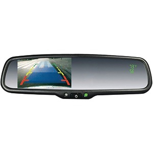 CRIMESTOPPER OEM Replacement-Style Mirror with 4.3 inch. Screen Compass & Temperature Display SV-9157.CT