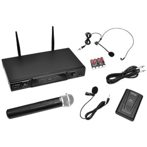 PYLE PRO VHF Wireless Microphone Receiver System with Independent Volume Control PDWM2115