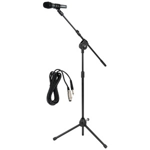 PYLE PRO Microphone & Tripod Stand with Extending Boom & Microphone Cable Package PMKSM20