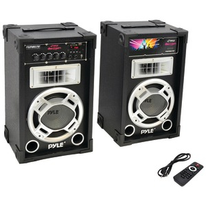 PYLE PRO Dual 800-Watt Disco Jam Powered Two-Way PA Bluetooth(R) Speaker System PSUFM837BT