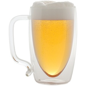 STARFRIT 17-Ounce Double-Wall Glass Beer Mug 080061-006-0000