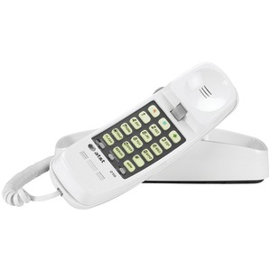 Corded Trimline Phone with Lighted Keypad (White)