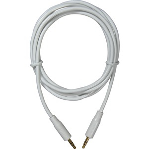 Premium White 3.5mm Stereo Cable 6ft