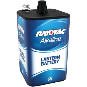 RAYOVAC 6-Volt 4-Alkaline D-Cell-Equivalent Lantern Battery with Spring Terminals 806