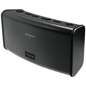 Rechargeable Splashproof Stereo Bluetooth(R) Speaker with Speakerphone (Black)