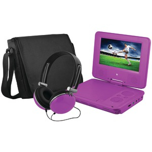 EMATIC 7 Inc Portable DVD Player EPD707PR