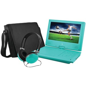 EMATIC 9 inch. Portable DVD Player Bundle (Teal) EPD909TL