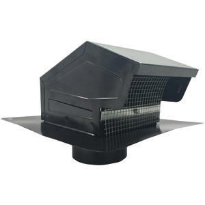 BUILDERS BEST Black Metal Roof Vent Cap (4 012635
