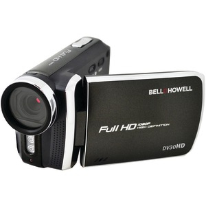 BELL+HOWELL 20.0 Megapixel 1080p DV30HD Fun-Flix Slim Camcorder (Black) DV30HD-BK