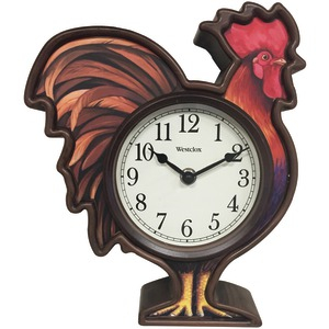 3D Rooster Wall Clock