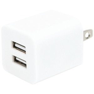 2-Amp Dual-Port USB Wall Charger (White)