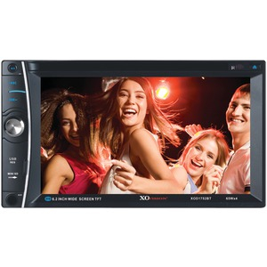 XOVISION 6.2 inch. In-Dash Double-DIN DVD Receiver with Bluetooth(R) XOD1752BT