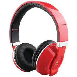 SUPERSONIC Over-Ear Bluetooth(R) Headphones with Microphone (Red) IQ-129BT-R