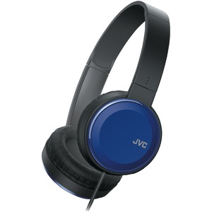 JVC Colorful On-Ear Headphones (Blue) HAS190MA