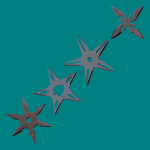 WJ Set of 4pcs star chrome A54327-A-CH