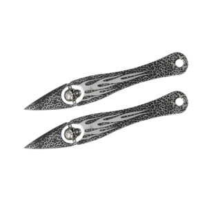 WJ Set of 2 Floating Skull Throwing Knives A543372-3