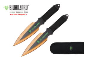 Biohazard 9 2pc set gold-black blade zombie thrower A7177-2GD