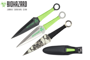 Biohazard 9 inches 3pcs set zombie throwing knife A8011-3-ASTD