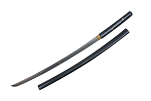 WJ 40 inches Black Katana w- DIsplay Stand F-905