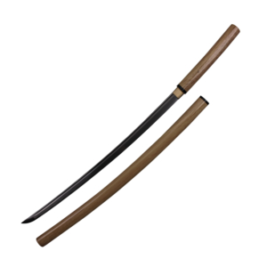 WJ 40 inches Shirasaya Wooden Color Katana Made From 1045 Carbon Steel Comes With Scabbard And Sword Bag With Certificate  F-906-WD