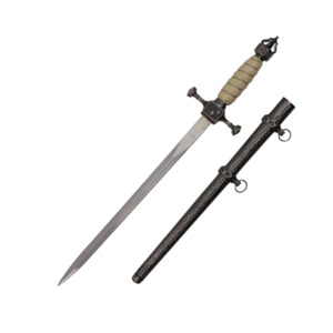 WJ 19 inches White And Chrome German Dagger H-20266
