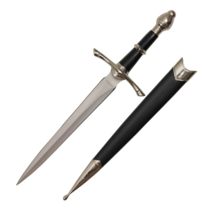 WJ 14 inches Medieval Dagger With Black Scabbard H-5921