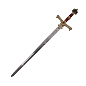 WJ 48 inches Red King Solomon Sword With Red And Gold Handle  K-4914-RD
