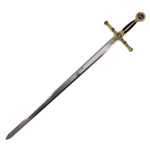 WJ 45 inches Blue Mason Sword With Blue And Gold Handle K-4915-BL-G