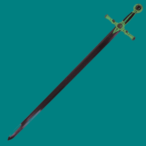 WJ 45 inches Green And Gold Masonic Sword K-4915-GN-G