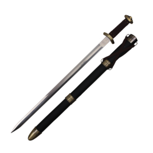 WJ 34 inches Black Spatha Arming Medieval Battle Sword With Scabbard L-26113
