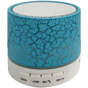 SYLVANIA Bluetooth(R) Lighted Portable Speaker (Blue) SP637-BLUE