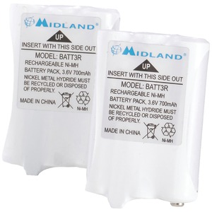 MIDLAND 2-Way Radio Rechargeable Battery Pack, 2 pk AVP14