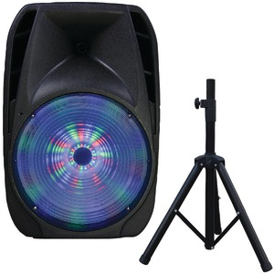 SUPERSONIC 15 inch. Portable Bluetooth(R) DJ Speaker with Stand IQ-4415DJBT
