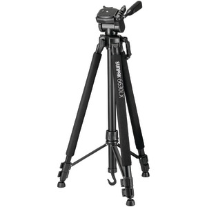 SUNPAK 6630LX 66 inch. Photo/Video Tripod with Adapters 620-663LX