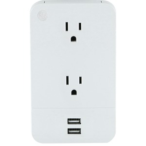 GENERAL ELECTRIC 2-Outlet Wall Tap with 2 USB Ports 31706